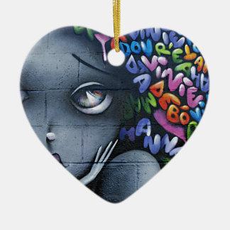Cute Fairy Graffiti Ceramic Heart Decoration