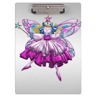 Cute Fairy on Silver Clipboard