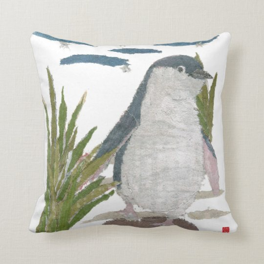 Cute Fairy Penguin Navy Pillow