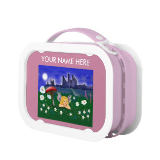 """Cute Fairy"" pink girls kids customise Lunch Box"