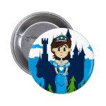 Cute Fairy Princess Badge Button