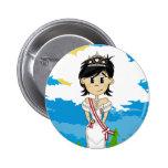 Cute Fairy Princess Badge Buttons