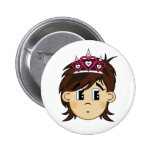 Cute Fairy Princess Badge Pinback Button