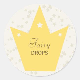 Cute Fairy Princess Birthday Party Decor Gift Tag Round Sticker
