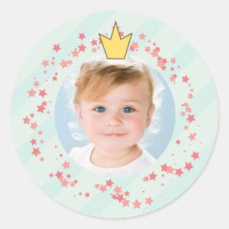 Cute Fairy Princess Birthday Party Photo Sticker