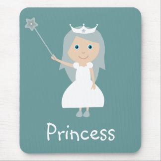 Cute Fairy Princess Customizable Blue Green Mousepads