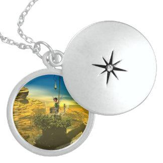 Cute fairy round locket necklace