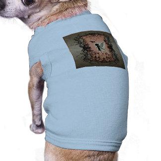 Cute fairy silhouette sleeveless dog shirt