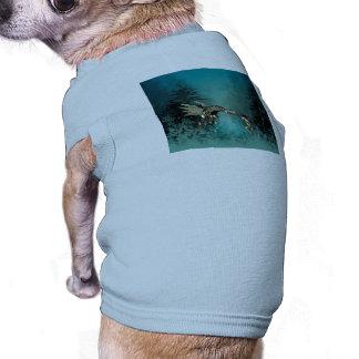 Cute fairy with steam dragon sleeveless dog shirt