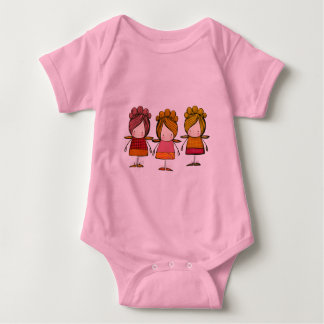cute fairy x 3 baby bodysuit