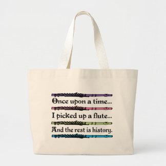 Cute Fairytale Flute Music Totebag Gift Jumbo Tote Bag