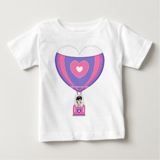 Cute Fairytale Princess in Hot Air Balloon Baby T-Shirt