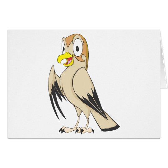 Cute Falcon Bird Brown Cartoon Shirt Card