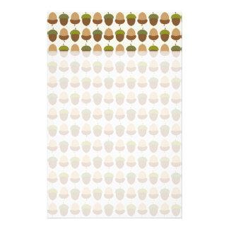 Cute Fall Autumn Acorn Nut Pattern Stationery Design