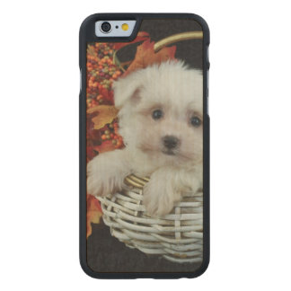 Cute Fall Puppy Carved® Maple iPhone 6 Slim Case