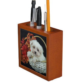Cute Fall Puppy Desk Organiser