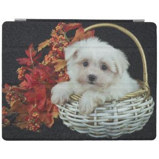 Cute Fall Puppy iPad Cover