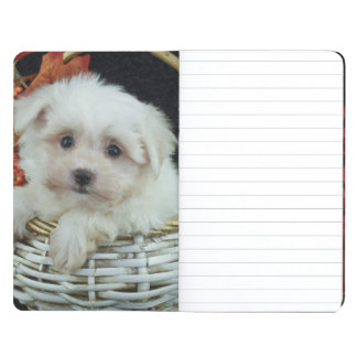 Cute Fall Puppy Journal