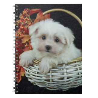 Cute Fall Puppy Notebook