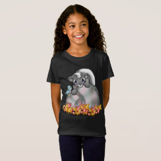Cute Fall Seasonal skunk girls t-shirt
