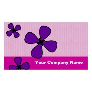 Cute Falling flowers Pink Custom Business Cards
