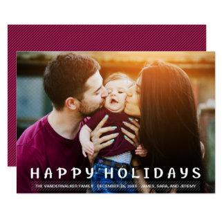 Cute Family Photo Happy Holidays Overlay Card