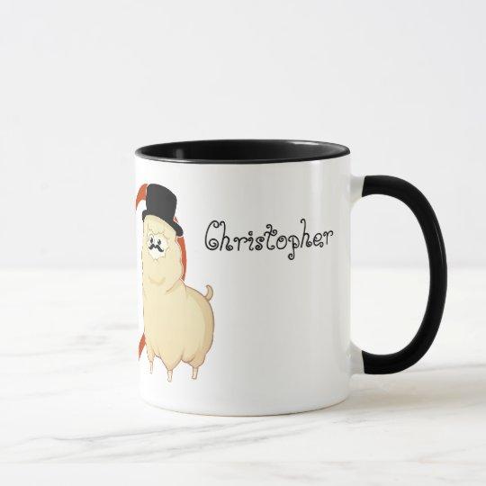Cute Fancy Alpaca Couple with customisable names Mug