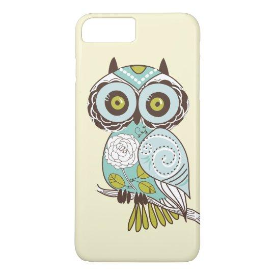 Cute Fancy Retro Groovy Owl Custom iPhone 7 Plus Case