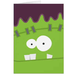 Cute Fankenstein's Monster Face Stationery Note Card