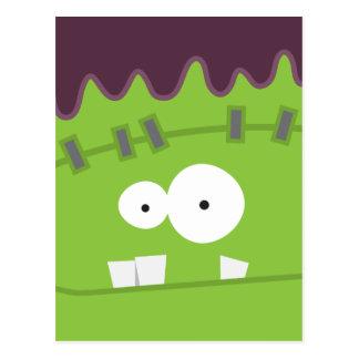 Cute Fankenstein's Monster Face Postcards