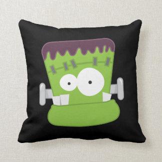Cute Fankenstein's Monster Face Throw Pillow