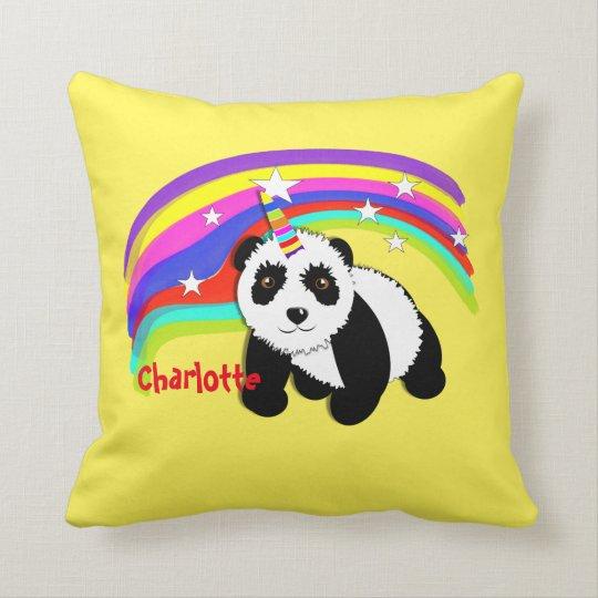 Cute Fantasy Unicorn Panda Themed Cushion