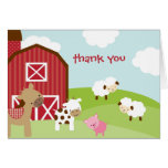 Cute Farm Animal Thank You Card Greeting Cards