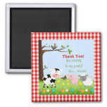 Cute Farm Animals Birthday Party Magnet Magnet