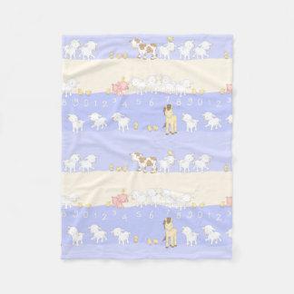Cute Farm Animals Fleece Blanket