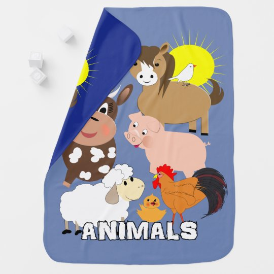 Cute Farm Animals Kids Whimsy fun Design Baby
