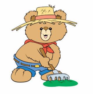 Cute Farmer Bear Photo Cutout
