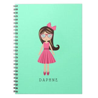 Cute Fashion Designer Girl Personalized Journal