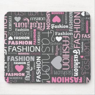 Cute fashion typography mousepad