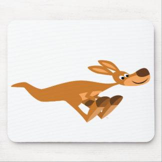 Cute Fast Cartoon Kangaroo Mousepad