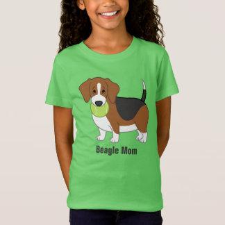 Cute Fat Black & Tan Beagle Mom T-Shirt