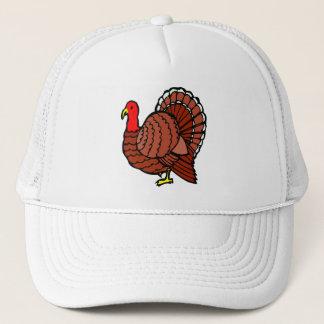 Cute Fat Brown Turkey Trucker Hat