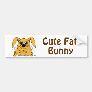 Cute Fat Bunny Bumpersticker Car Bumper Sticker