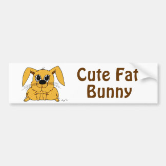 Cute Fat Bunny Bumpersticker Bumper Sticker