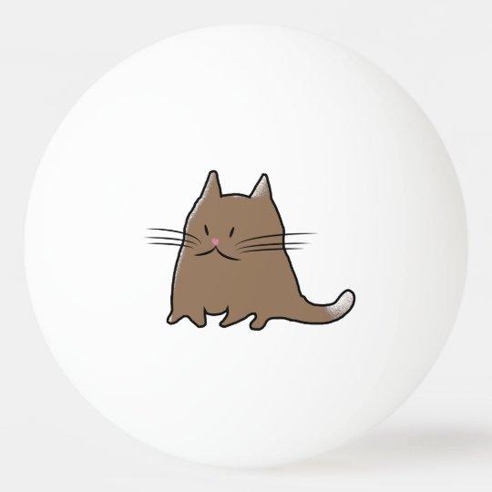 Cute Fat Cat Ping Pong Ball