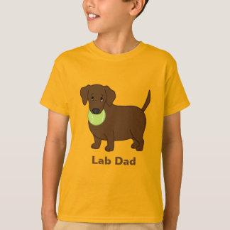 Cute Fat Chocolate Labrador Retriever Lab Dad T-Shirt