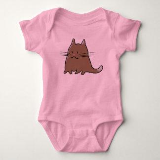 Cute Fat Kitty Cat Baby Bodysuit