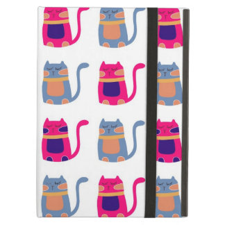 Cute Fat Kitty Cats in Pink Melon Blue Unique Gift iPad Air Case