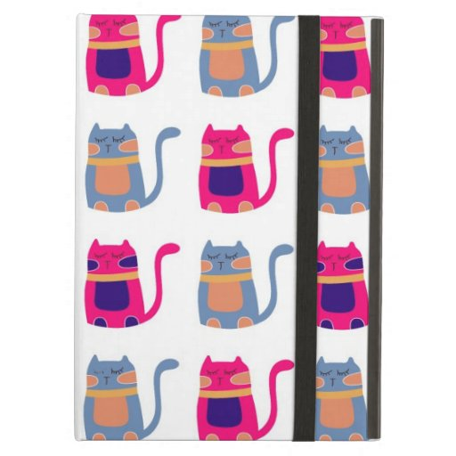 Cute Fat Kitty Cats in Pink Melon Blue Unique Gift iPad Folio Cases