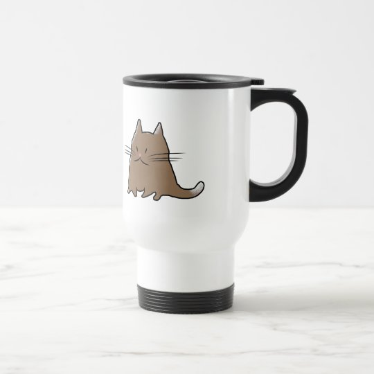Cute Fat Little Chubby Kitty Cat Travel Mug
